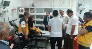 İl Sağlık Müdürü Benli, Kaza Yapan 112 Personelini Ziyaret Etti